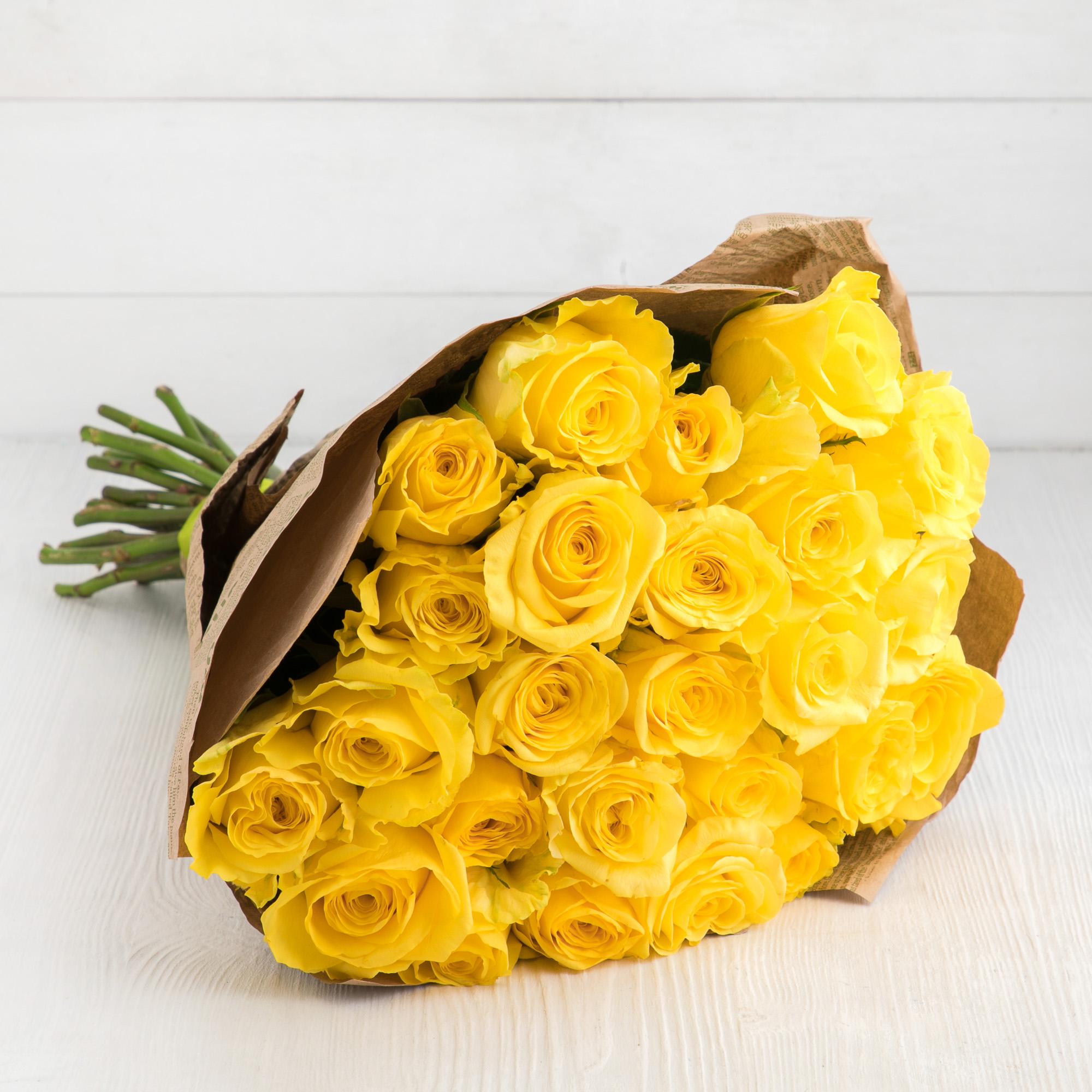 красивый букет из желтых роз размер вес