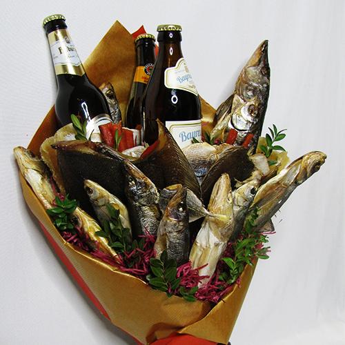 Картинки мужской букет из рыбы и пива